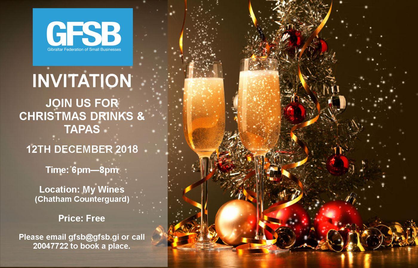 Members Christmas Drinks Tapas Gibraltar Federation Of